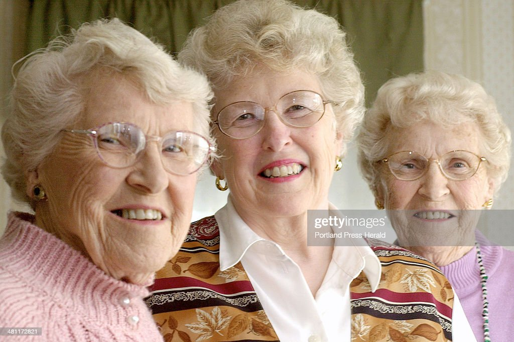 Staff Photo by John Ewing Tuesday May 7 2002 Phyllis Weatherall with her mother Mary Curtis and her Aunt Charlotte White in Brunswick Mary and...