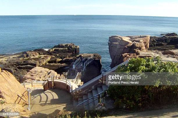 Staff Writer Glenn Jordan got off his borrowed bicycle on Thursday October 3 2013 to get a glimpse of Thunder Hole normally one of Acadia National...