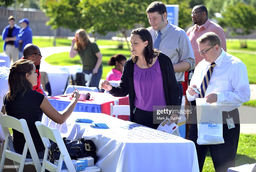 Staffers from the Chief Administration Office signed up in mass for the 7th Annual WalkingWorks Capitol Hill Challenge on Tuesday morning at the Upper House Park behind the Longworth House Office Building.