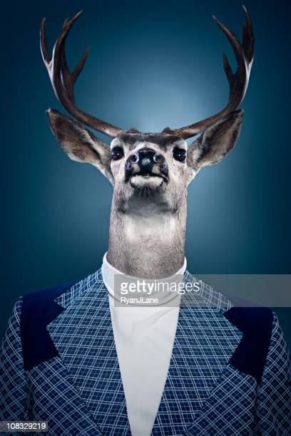 Uomo Ritratto di cervo