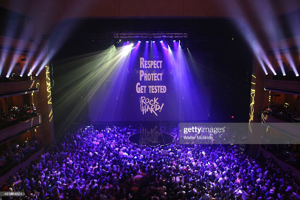 Stage and crowd atmosphere at the Broadway Cares/Equity Fights AIDS' Broadway Bares 24 'Rock Hard!' at Hammerstein Ballroom on June 22, 2014 in New York City.