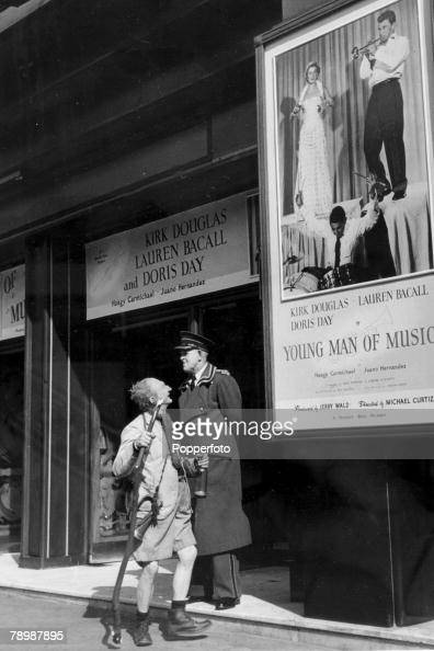Stage and Screen Entertainment Personalities pic 1950 London Northern music hall comedian Frank Randle pictured while on a tour odf the South outside...