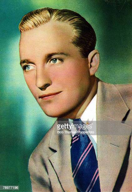 Stage and Screen Music / Personalities pic circa 1937 Bing Crosby portrait American singer Bing Crosby 19041977 actor and singer famous for his...