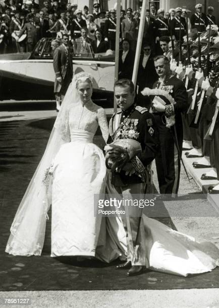 18th April 1956 American actress Grace Kelly marries Prince Rainier of Monaco Grace Kelly born in Philadelphia was a cool elegant beauty who starred...