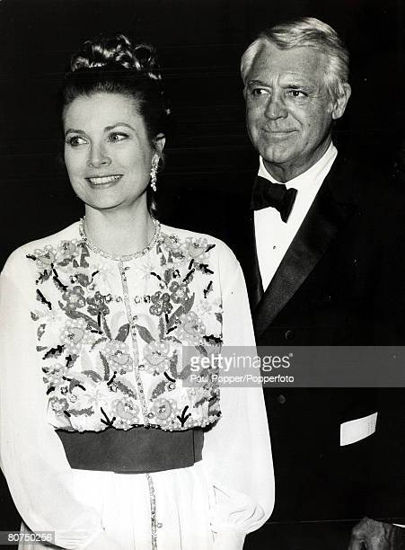 30th June 1971 Actor Cary Grant and Princess Grace of Monaco at a Charity Gala in Hollywood British born American actor Cary Grant described as the...