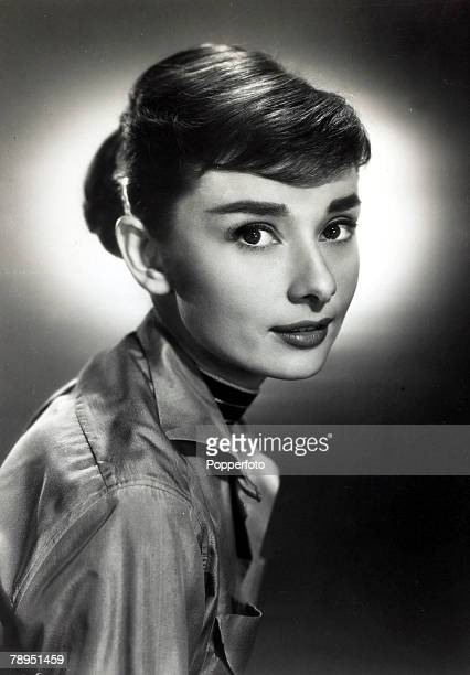 circa 1950's Actress Audrey Hepburn portrait Audrey Hepburn born in Brussels a truly international star from a cosmopolitan background starred in...