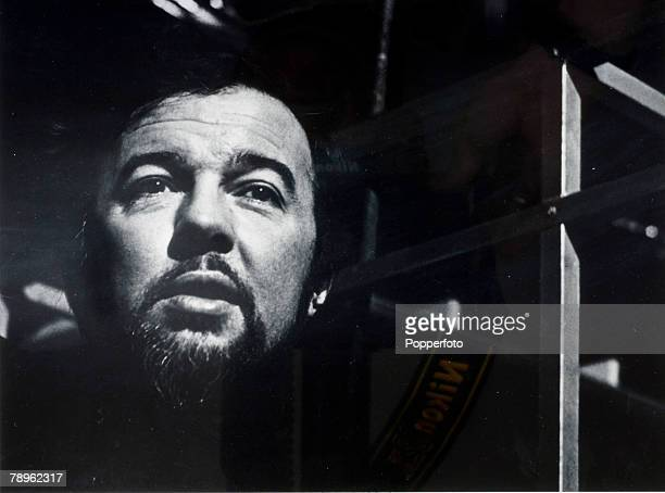 circa 1975 English theatre opera and film director Peter Hall born 1930 pictured in moody dark setting Peter Hall was knighted in 1977