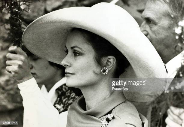 Stage and Screen Royalty Personalities pic 26th May 1970 Princess Grace of Monaco pictured at a StTropez wedding The former Grace Kelly born in...
