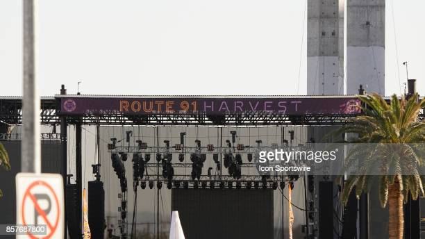 Stage banner at Route 91 Harvest Festival Wednesday October 04 in Las Vegas NV