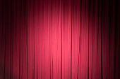 Stage curtain-red