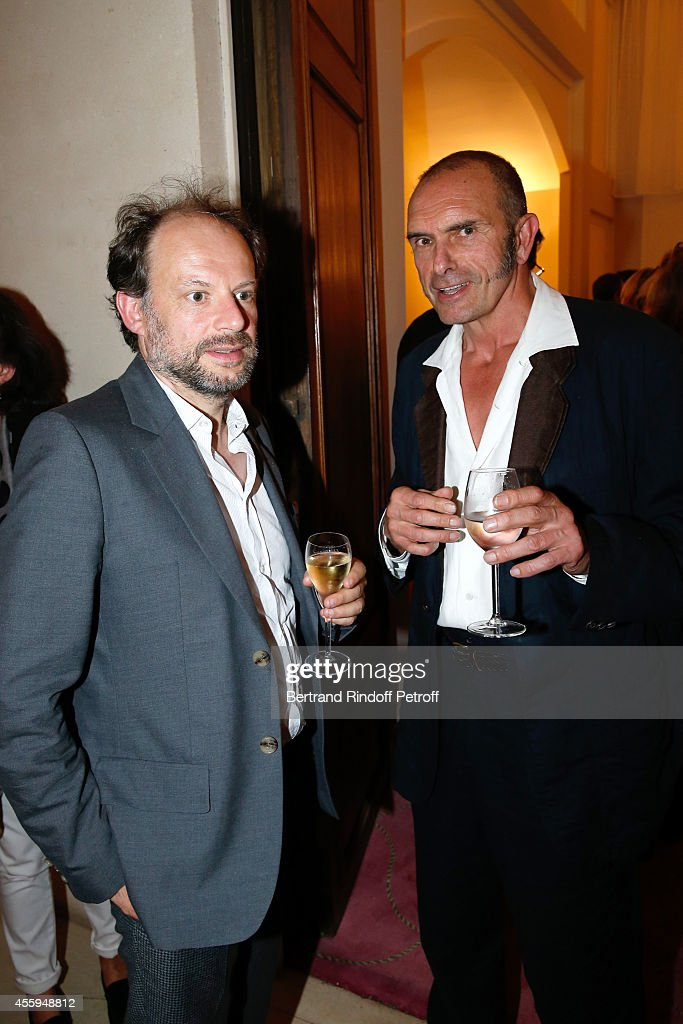 Stage Director and actor Denis Podalydes and Bartabas attend the Norway National Ballet at Theatre des Champs Elysees on September 22, 2014 in Paris, France.