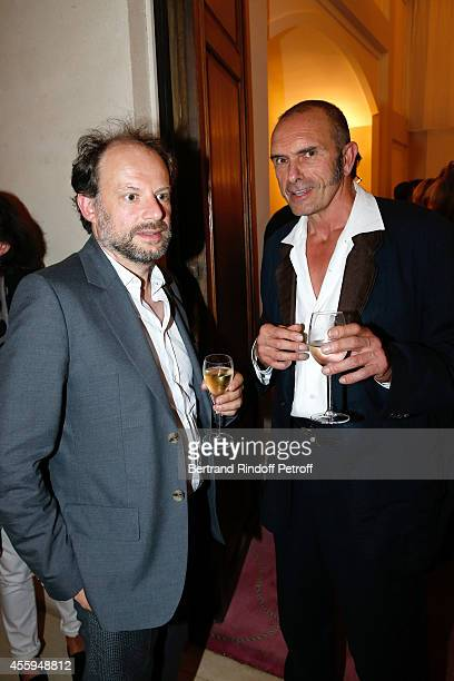 Stage Director and actor Denis Podalydes and Bartabas attend the Norway National Ballet at Theatre des Champs Elysees on September 22 2014 in Paris...