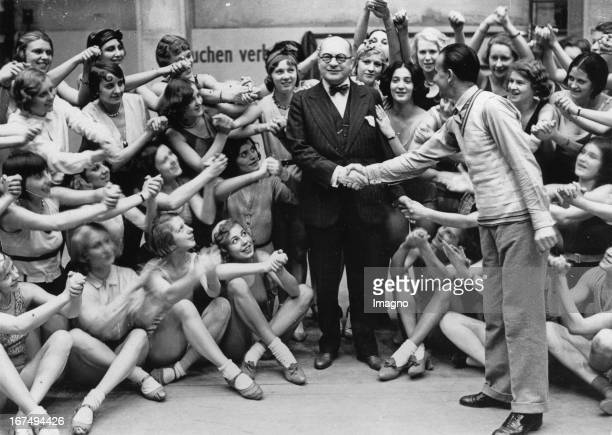 Stage director and founder of Berlin's large equipment Revue in Berlin Admiralspalast Hermann Haller on his 60th Birthday 24th November 1931...