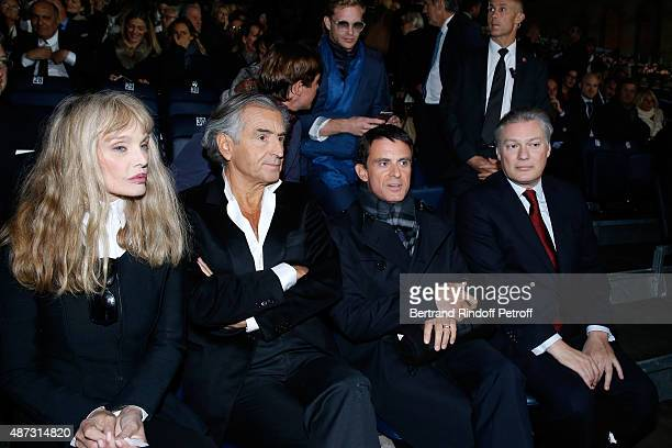 Stage Director of the Opera Arielle Dombasle her husband Writer BernardHenri Levy French Prime Minister Manuel Valls and his wife's American cousin...