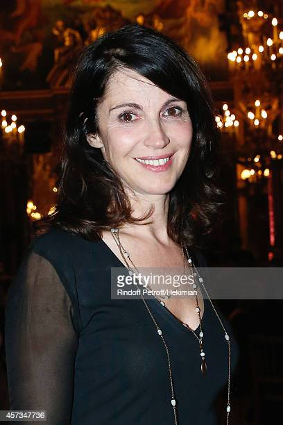 Stage Director of the Opera Zabou Breitman attends the AROP Charity Gala with Opera 'L'enlevement au Serail' from Mozart at Opera Garnier on October...