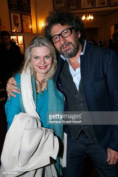 Stage Director of the Piece Isabelle nanty and Director Radu Mihaileanu attend the Theater Price 2015 of Foundation Diane Lucien Barriere given to...
