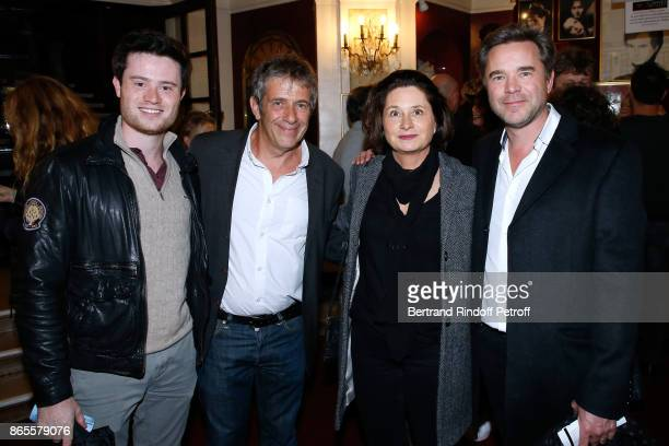Stage Director of the piece Stephane Hillel Guillaume de Tonquedec his wife Christele and their son Amaury attend the 'Ramses II' Theater Play at...