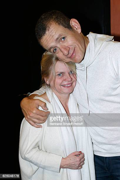 Stage Director of the show Isabelle Nanty and humorist Danny Boon pose Backstage after his 'Dany De Boon Des HautsDeFrance' Show at L'Olympia on...