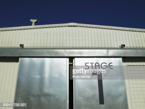 Stage door, low angle view : Stock Photo