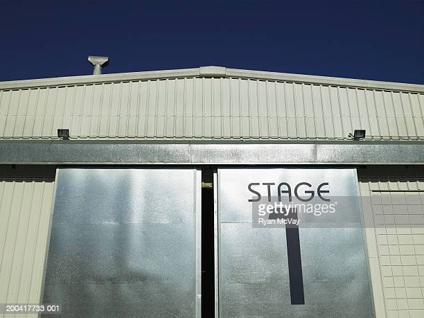 Stage door, low angle view