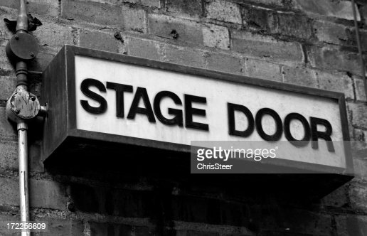 Stage Door - Old fashioned entrance sign