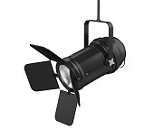 Stage Light isolated on white background. 3D render