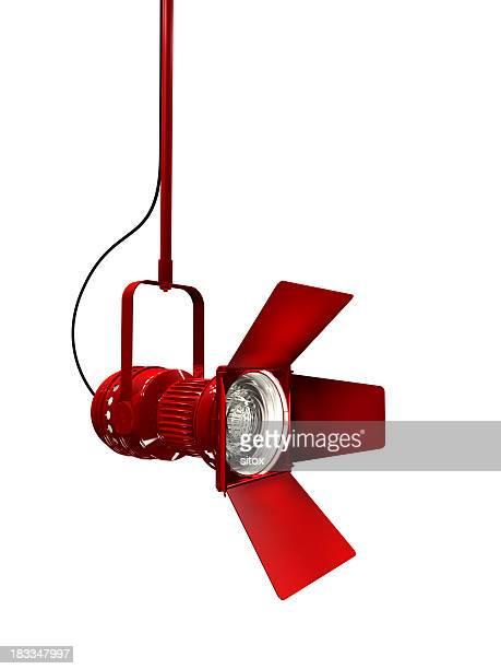 Bühnenscheinwerfer mit roten Wohnen