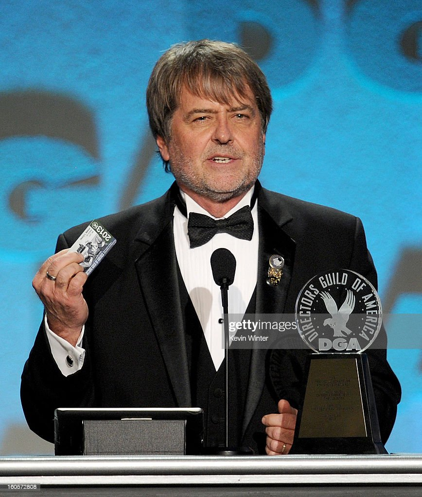 Stage manager Dency Nelson accepts the Franklin Schaffner Award onstage during the 65th Annual Directors Guild Of America Awards at Ray Dolby Ballroom at Hollywood & Highland on February 2, 2013 in Los Angeles, California.