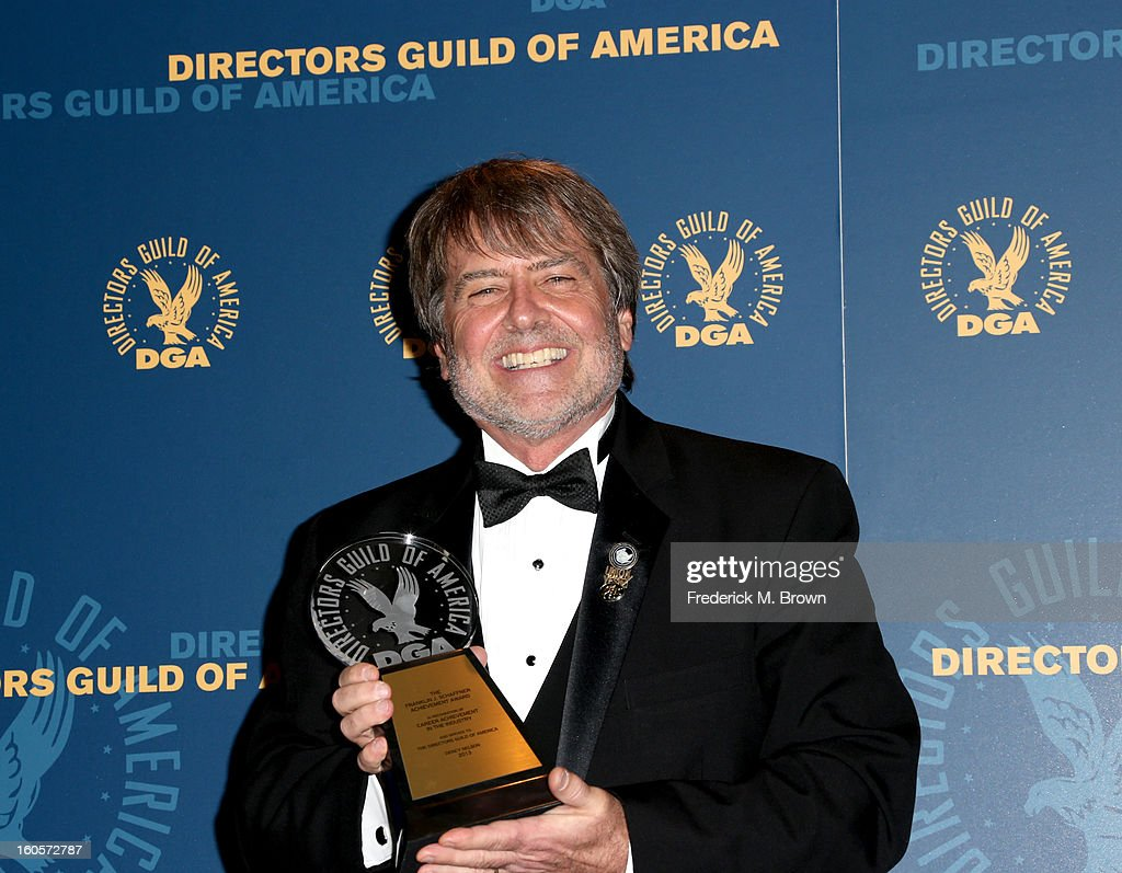 Stage Manager Dency Nelson, winner of the Franklin J. Schaffner Achievement Award, poses in the press room during the 65th Annual Directors Guild Of America Awards at Ray Dolby Ballroom at Hollywood & Highland on February 2, 2013 in Los Angeles, California.
