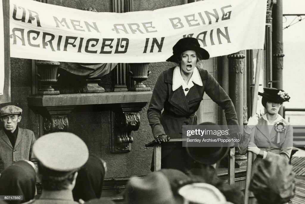 Stage & Screen, 1968, Actress Vanessa Redgrave seen here playing Sylvia Pankhurst in the film 'Oh, What a lovely War'