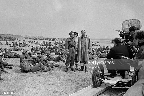 Stage Screen Camber Sands England Actor John Mills seen here in an Ealing Studios film reconstruction of the evacution of the Dunkirk beaches during...