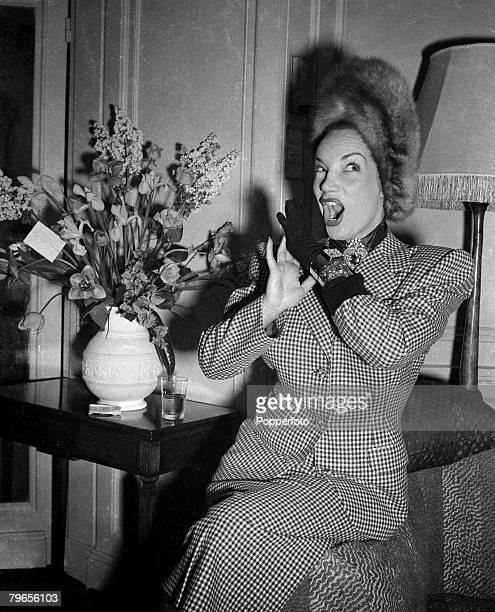 Stage Screen London England 22nd April 1948 Brazilian film and movie actress Carmen Miranda