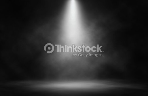 Stage white smoke spotlight background. : Stock Photo