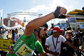 Stage winner Peter Sagan of Slovakia riding for Tinkoff rides through the crowds at the end of stage eleven of the 2016 Le Tour de France a 1625 km...