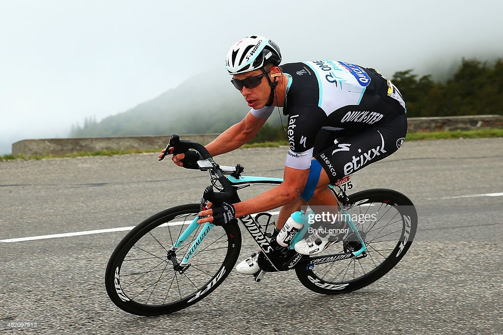 Stage winner <a gi-track='captionPersonalityLinkClicked' href=/galleries/search?phrase=Tony+Martin+-+Cyclist&family=editorial&specificpeople=5399396 ng-click='$event.stopPropagation()'>Tony Martin</a> of Germany and Omega Pharma Quick-Step in action during the ninth stage of the 2014 Tour de France, a 170km stage between Gerardmer and Mulhouse, on July 13, 2014 in Mulhouse, France.