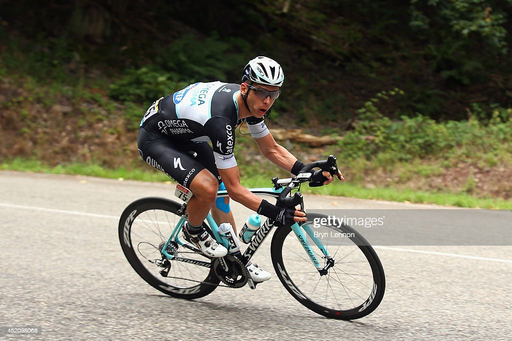 Stage winner Tony Martin of Germany and Omega Pharma Quick-Step in action during the ninth stage of the 2014 Tour de France, a 170km stage between Gerardmer and Mulhouse, on July 13, 2014 in Mulhouse, France.
