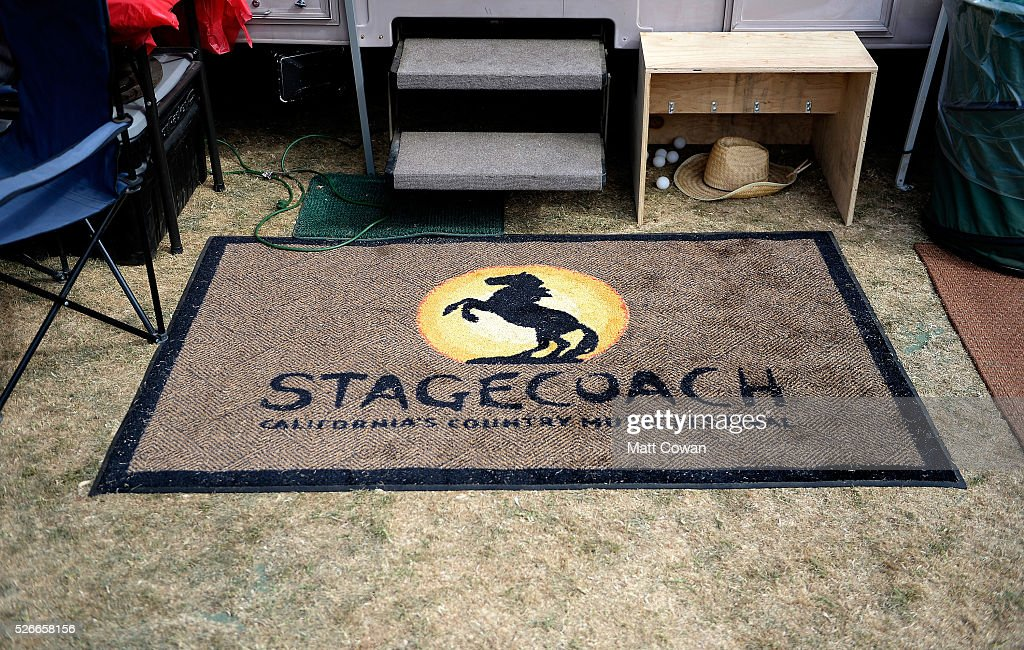 A Stagecoach door mat is seen during 2016 Stagecoach California's Country Music Festival at Empire Polo Club on April 30, 2016 in Indio, California.