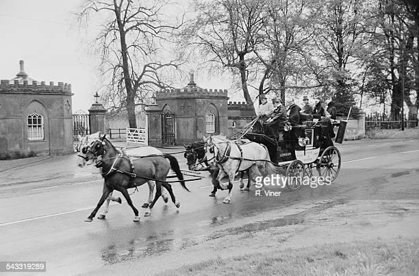 A stagecoach taking passengers from StratforduponAvon to London 1967