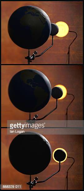 Stages of solar eclipse (Digital Composite)