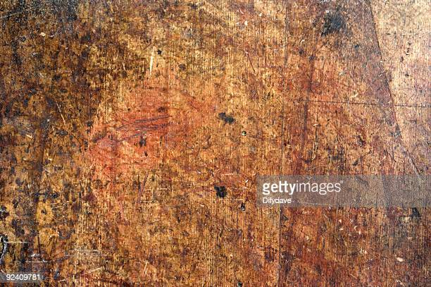 Stained And Marked Woodwork Bench Top Background