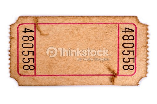 stained blank admission ticket stock photo thinkstock