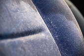 Stained car seat