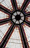 Stained glass ceiling, Oktagon shopping complex.