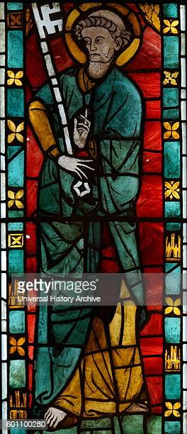 Stained glass from the SainteChapelle a royal chapel in the Gothic style within the medieval Palais de la Cite Dated 13th Century