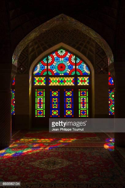 Stained Glass in Nasir Al Molk Mosque, Shiraz, Fars Province, Iran