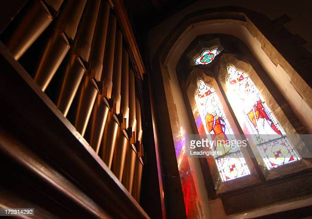 Stained Glass & Organ Pipes