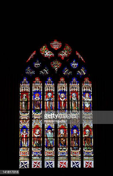 Stained glass window of Saint-Corentin Cathedral, Quimper, Cornouaille, Finistere, Brittany, France