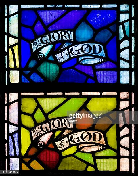 Stained glass window to the glory of god