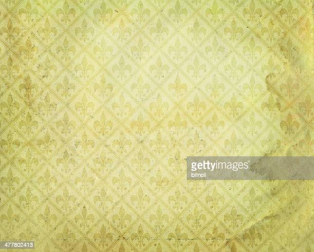 stained yellow paper with symbol