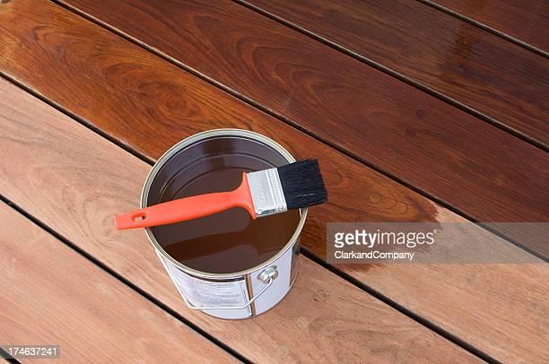 Staining Hardwood Patio Decking